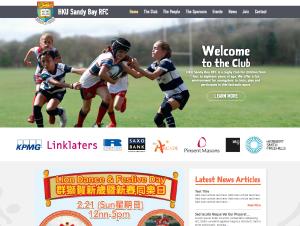HKU Sandy Bay RFC Website Design
